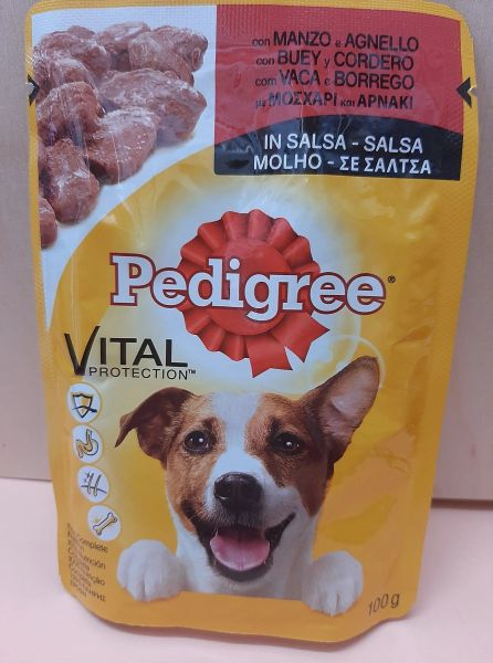 PEDIGREE VITAL BEEF IN GRAVY - 100gr