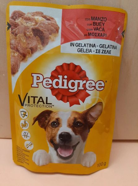 PEDIGREE VITAL BEEF IN JELLY - 100gr