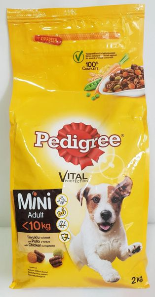 PEDIGREE MINI ADULT CHICKEN AND VEGETABLES 2kg