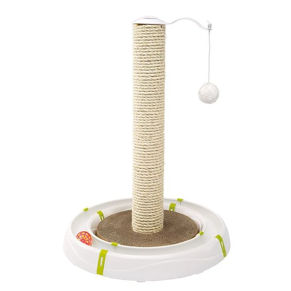 MAGIC TOWER - Cat toy with the shape of a route, complete with scratching area