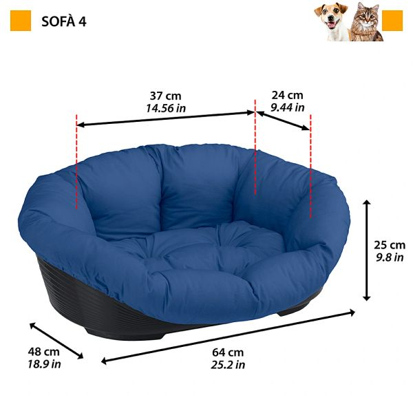 SOFA 4 - Plastic bed with cotton cushion