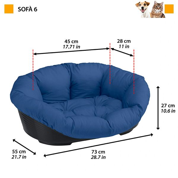 SOFA 6 - Plastic bed with cotton cushion