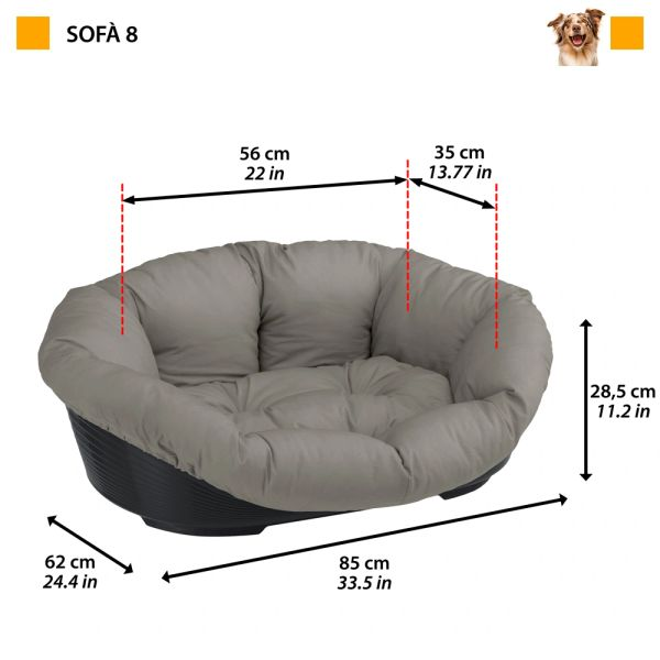 SOFA 8 - Plastic bed with cotton cushion