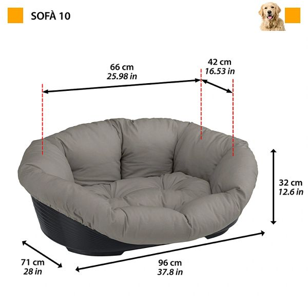 SOFA 10 - Plastic bed with cotton cushion