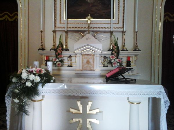 Altar flower arrangement