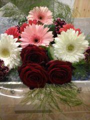 Roses and gebera