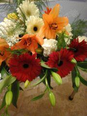 Lilium and gebera flower bouquet