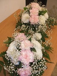 Oval flower arrangements