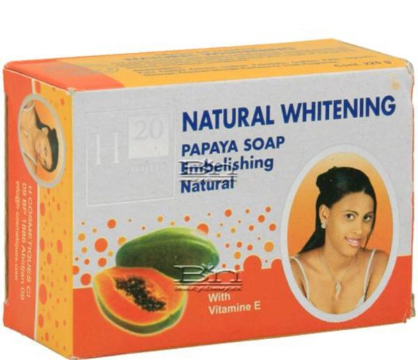 H20 Natural Whitening Papaya Soap 225g