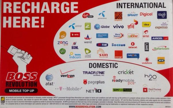 International Mobile Recharges