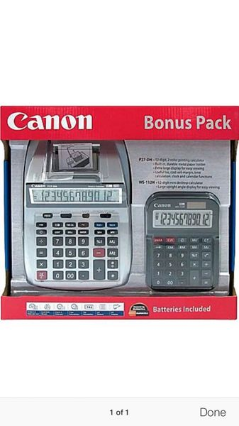 Cannon Typewriter and Calculator 3 lbs