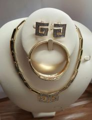 Gold Plated 3 Pcs Design Jewerly Set