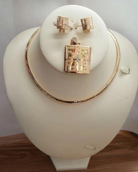 Gold Plated 3 Pcs Jewelry Set