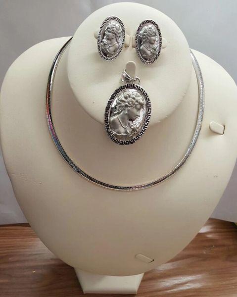 Silver Plated Design 3 Pcs Jewerly Set