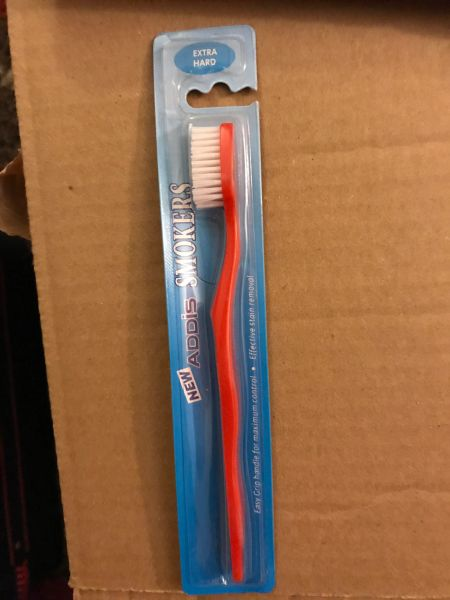 New Addis Smokers Extra Hard Toothbrush