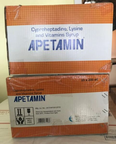 Case of Apetamin Vitamin Syrup 200ml (25 bottles) Wholesale price