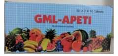 GML-Apeti (500 tablets) 25 boxes. Half of whole box
