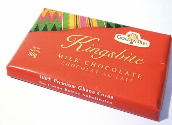 Kingsbite Golden Tree Milk Chocolate From Ghana 100g
