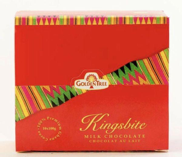 Box Of kingsbite Golden Tree Chocolate From Ghana (box has 10 Chocolate Bars)