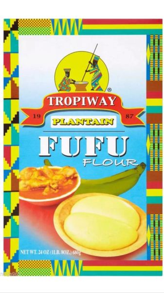 Two (2) Boxes of Tropiway Plantain Fufu 1 lbs 8 oz each