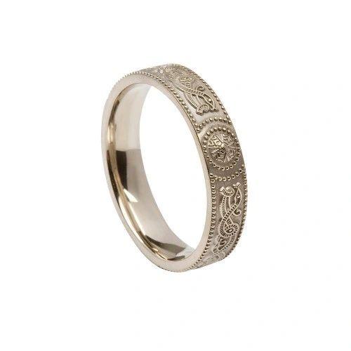 Ring - Celtic Warrior - Boru #WED24C - 4.5mm - Sterling