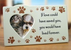 Pet - Memorial Frame - If Love Could Have Saved You