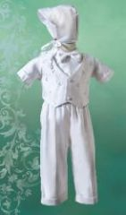 Boy's Suit - Christening / Baptism -White - Size 3-6mo