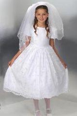 First Communion Dress - Irish - Shamrocks - Corrine #D4199- Size 7