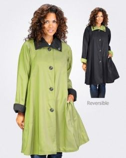 Jacket - Rain Jacket - by Janska - Riassa - Leaf Green/Black - XS