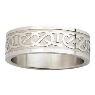 Ring - Celtic Band - Steel - Solvar S2845