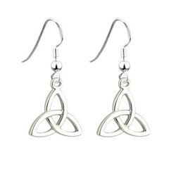 Earrings - Trinity - Drop - Rhodium - Solvar #S33330