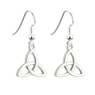 Earrings - Trinity - Drop - Rhodium - Solvar #S33330