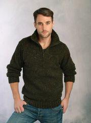 Sweater - Men's 1/2 Zip - Sea Blue