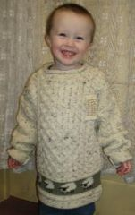 Child Sweater - Fisherman-knit Sheep Design