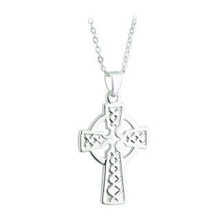 Necklace - Celtic Cross - Silver Plated - Solvar S45231