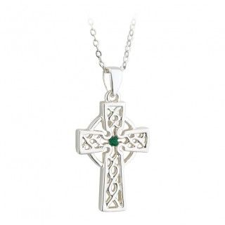 Necklace - Celtic Cross - Filigree - Silver Plated - Solvar #S45236