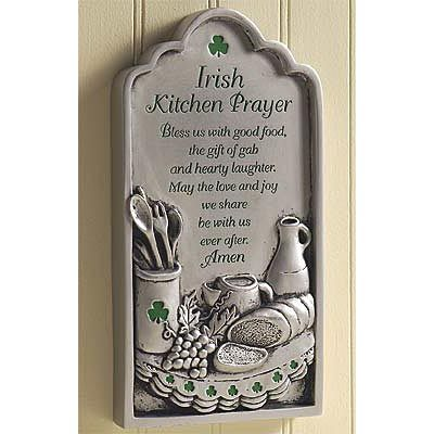 Plaque - Irish Kitchen Prayer - AP #36300