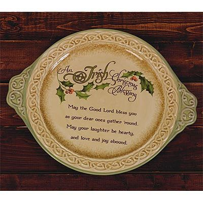 Irish Christmas Blessing.Platter Irish Christmas Blessing Ap 54097