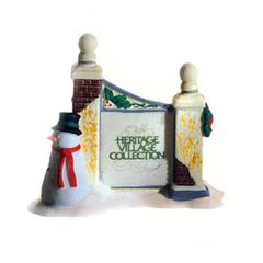Department 56 - Village Sign with Snowman - # 55727