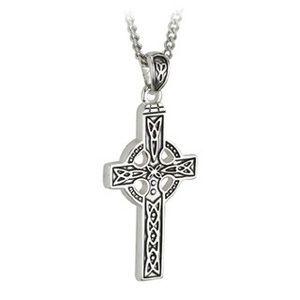Necklace - Celtic Cross - Stainless Steel - Solvar #S44117