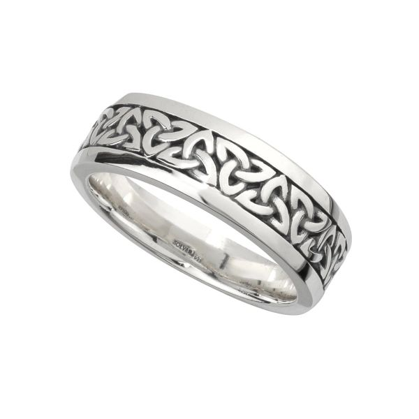 Ring - Celtic Trinity Band - Sterling - Gents - Solvar #S21012