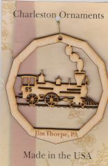 Christmas - Ornament - Jim Thorpe - Wood - Steam Train