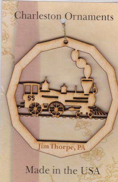 Christmas - Ornament - Jim Thorpe - Wood - Steam Train