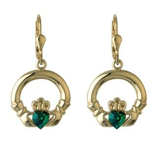 Earrings - Claddagh - Drop - Solvar #S3422