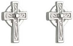 Earrings - Celtic Cross Stud - Tiny - Solvar S33315