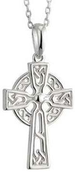 Necklace - Celtic Cross - Baby - Child - Solvar #45074