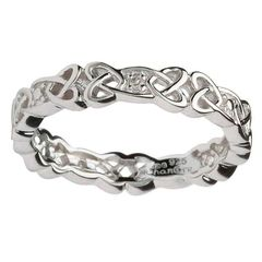 Ring - Celtic Knot Stone Set - Sterling - Shanore #SD12