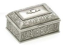 Jewelry Box Claddagh Mullingar Pewter 2099 Made in Ireland