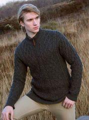 Sweater - Half Zip - Charcoal - X4295