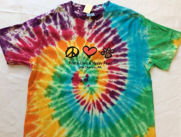 T Shirt - Peace, Love & Muddy Paws